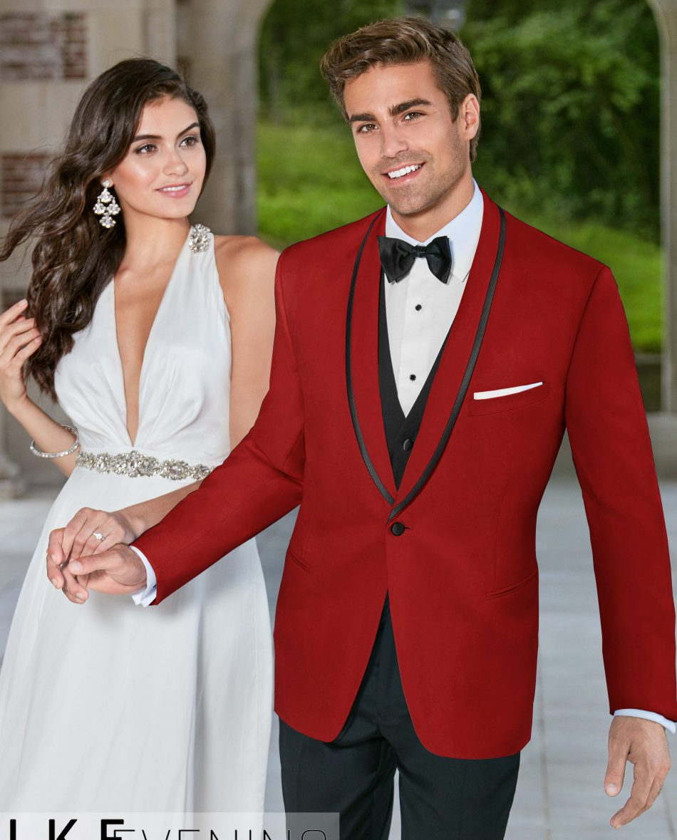 Red Slim Tuxedo Jacket at VIP Formal Wear