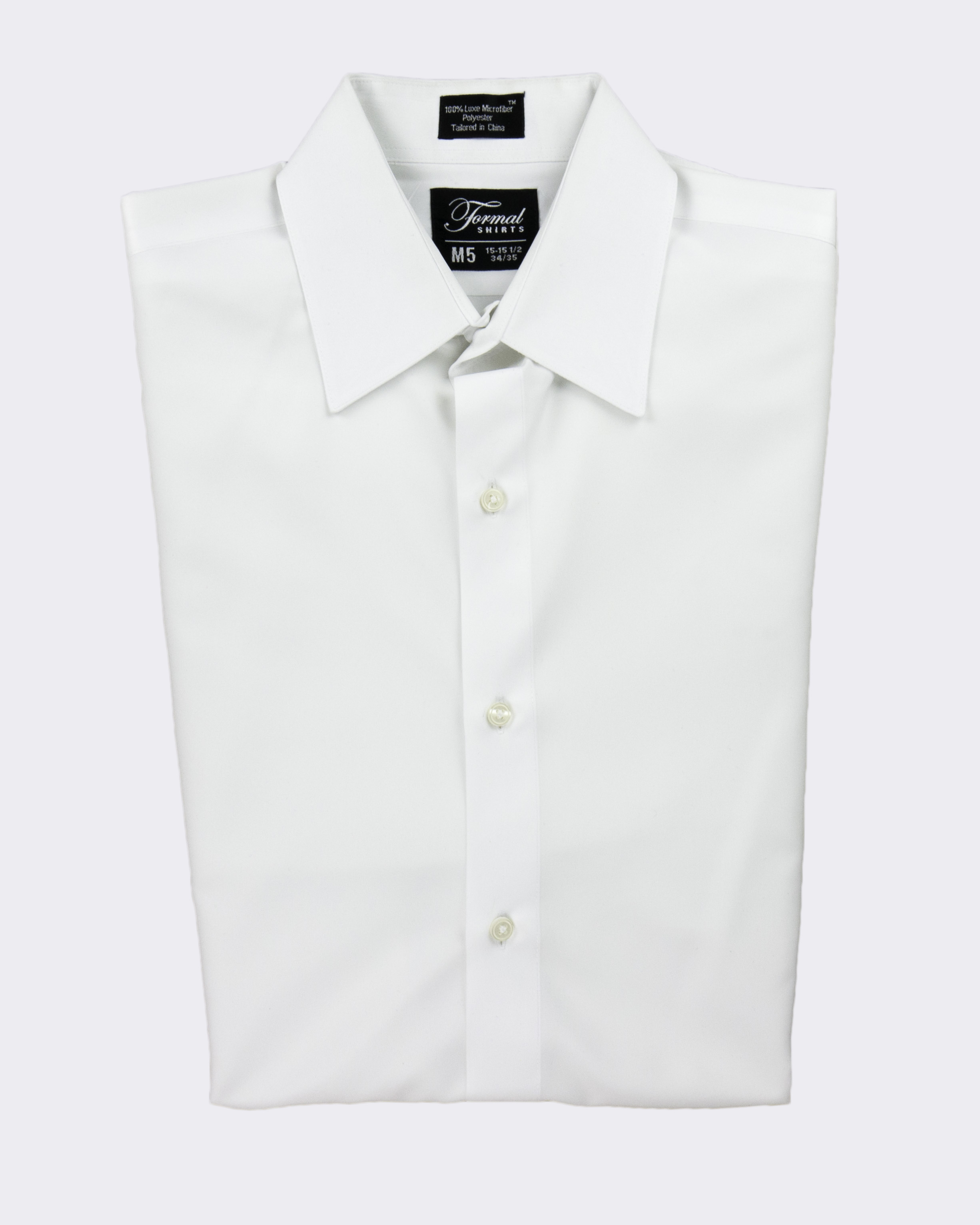 "White NEW Microfiber Tuxedo Shirt /""Laydown Collar/"" Non pleat"