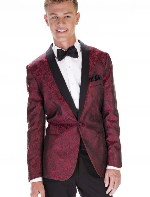 Red Paisley Tuxedo Jacket