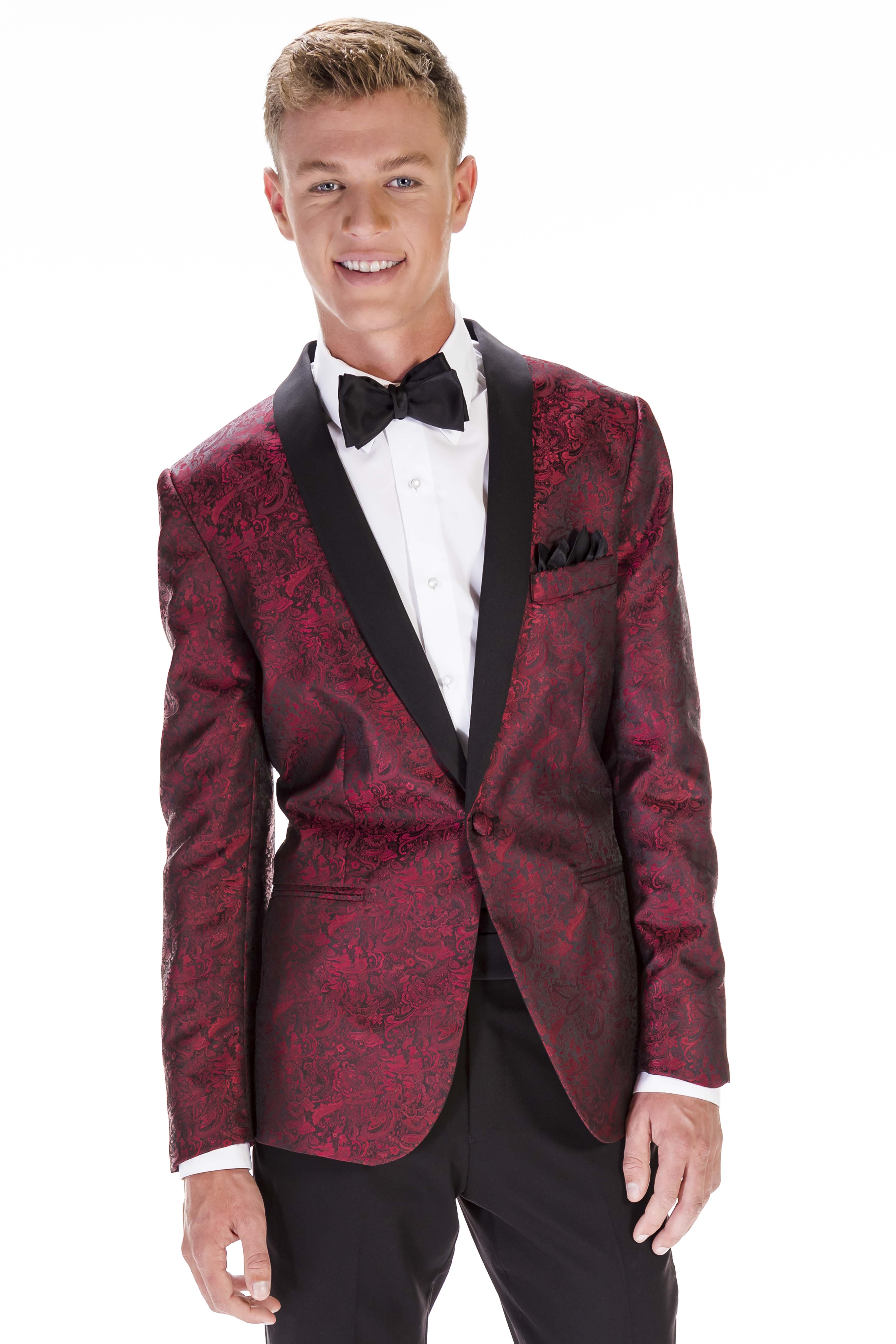 Aries Red Paisley Vip Formals