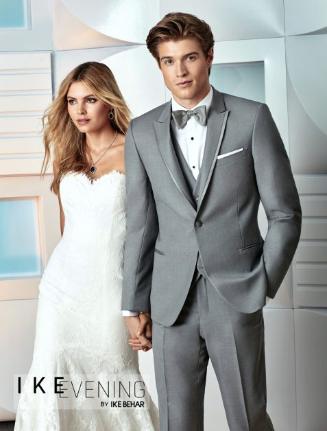 grey slim tuxedo available at VIP Formal Wear