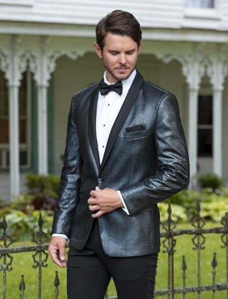 iridescent metallic dinner jacket at VIP Formal Wear
