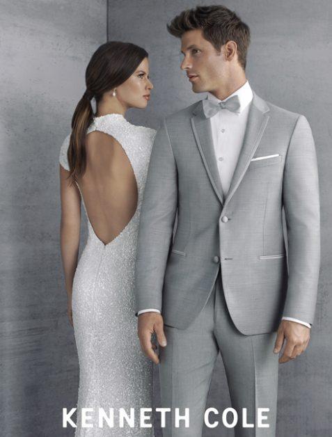Grey Slim Fit Tuxedo