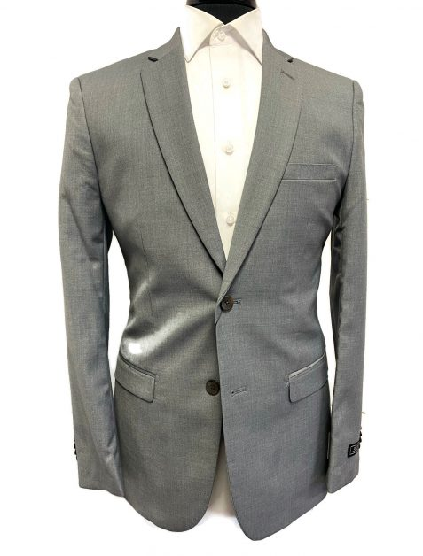 grey ultra slim suit, light gray suit