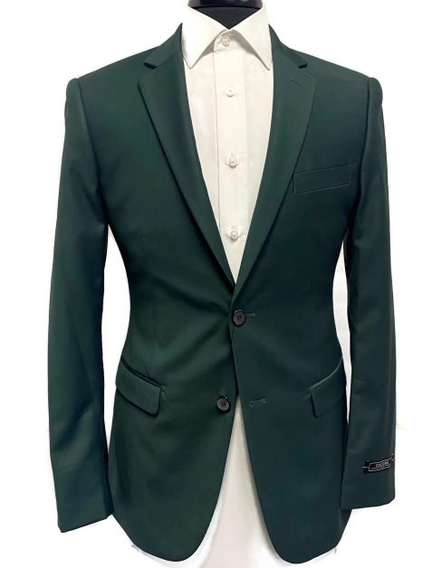 Hunter green suit available at VIP Formal Wear
