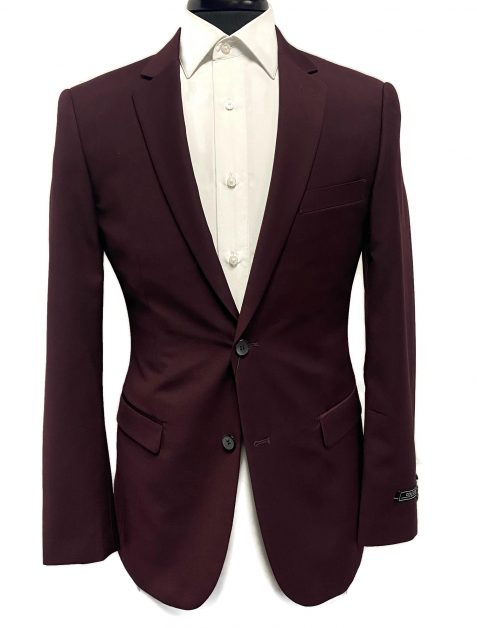 burgundy Murphy suit available at VIP Formal Wear