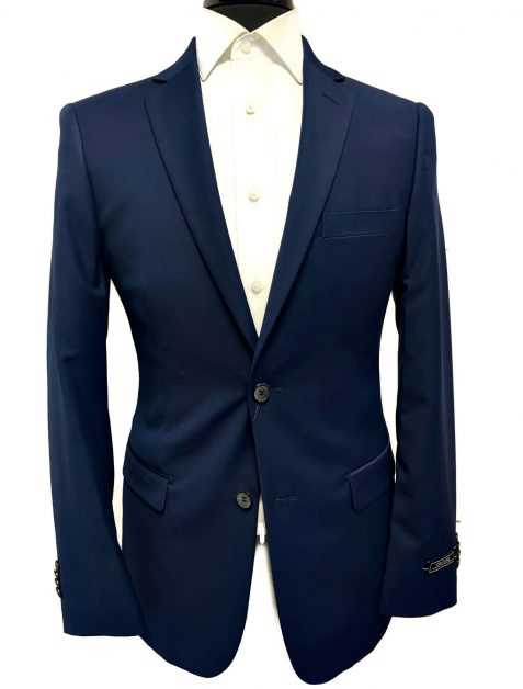 navy blue ultra slim fit suit